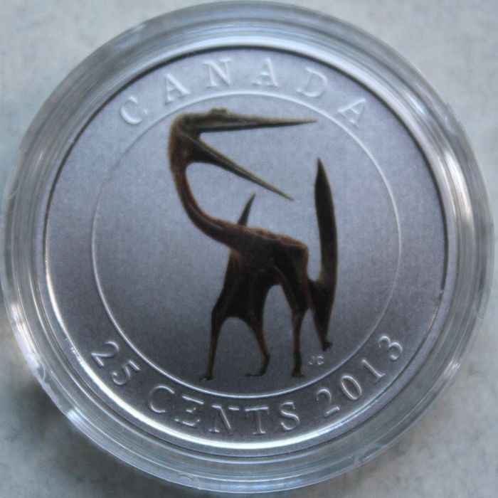 "Canada - 25 cents for 2013 - ""pterodactyl"" - glow in the dark"
