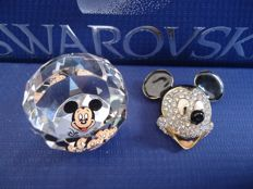 Swarovski - Brooch and Paperweight Mickey - Elephant.