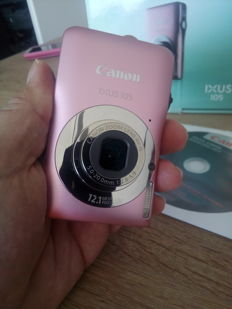 CANON IXUS 105 PINK version in box as new.