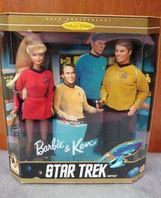 Mattel Barbie and Ken 30th Anniversary Star Trek Giftset