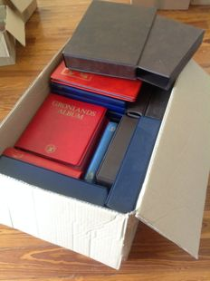 Accessories - Box with 53 Ring Albums and Folders + Hundreds of Sheets for Stamps