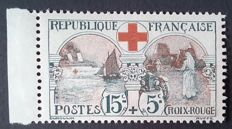 France 1918 - Red Cross, 15c. +5c. black and red, signed by Cérès – Yvert # 156