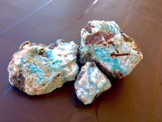 Big lot of 3 blue rough Larimar - 1600 g