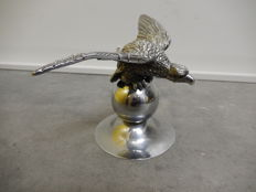 Original Chrome Car Mascot Eagle Bird Mascot Measures 19 cm wingspan 10 cm Length and 10 cm across Base