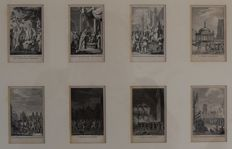 After Jacobus Buys (1724 - 1801) -  geschiedenis des vaderlands and portraits (collages) - 18th century
