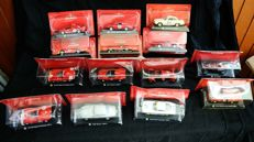 De Agostini - Scale 1/43 - Lot with 14 models: 14 x Alfa Romeo cars.