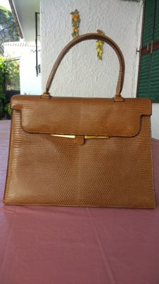 Handbag lizard leather