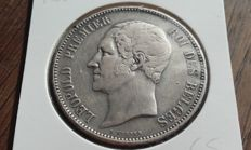"""Belgium - module of 5 francs 1853,  """"Wedding of Leopold and Maria Hendrika"""" - silver."""
