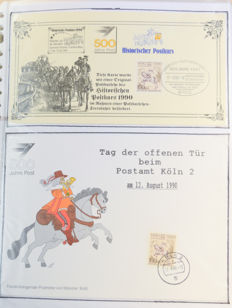 Mail delivery, themed collection in two folders