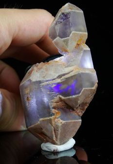 Quartz Scepter with Amethyst Core  - 7.4 x 3.5 x 3.2cm - 80gm