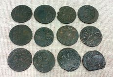 Poland / Lithuania Lot of 12 solid - 1633/1668 - Copper