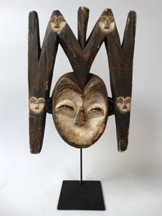 Bwete mask with 5 faces - KWELE - Gabon