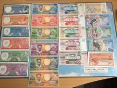 Suriname - 22 different banknotes - 1963/2000