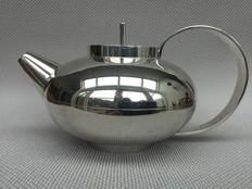 Lino Sabattini for Christofle, Silverplated tea pot