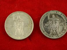 Weimar Republic – 5 Mark 1925 A and 1925 F