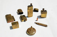 Trench art, lot of lighters handcrafted with copper bullets 1914 1918