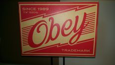 Shepard Fairey - Obey Trademark Sign + 16 stickers