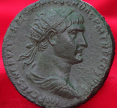 Roman Empire - Trajan 98-117. AE As, Rome 107- RIC 586