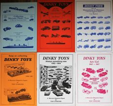 Dinky Toys - Naslagwerken: Dinky Toys Meccano Magazine Digest serie, alle 6 uitgaven
