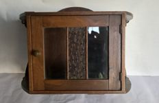 Handmade oak Art Deco display / hallway cabinet - Netherlands - 1st half 20th century