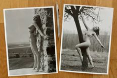 Photo; Peter Lorenz - Set of 2 nude outdoor nude photographies - 1986/1987