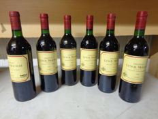 1989 Chateau Lynch Moussas Pauillac Grand Cru.Classe - 6 bottles (75cl)