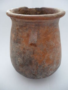 Roman earthenware amphora drinking cup - height 105 mm
