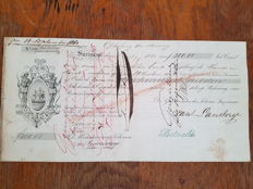 Suriname promissory note or slave letter - 1863