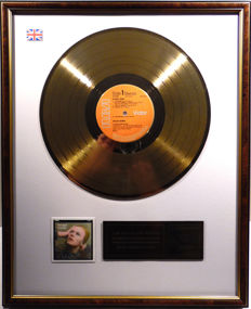 "David Bowie - Hunky Dory -  12"" UK RCA record gold plated record by WWA Awards"