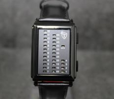 DETOMASO Spacy Timeline 1 - men's watch - leather strap - digital - binary - new