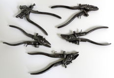 Five antique saw tooth setters - ca. 1930