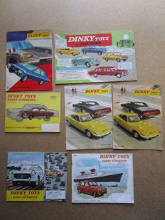 Dinky Toys - France - set of 7 catalogues 1961, 1962, 1963, 1965, 1969, and 1971