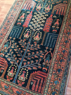 Antique Persian hand knotted rug - Hamadan IRAN - from 1910's