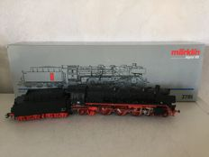 Märklin H0 - 3795 - Steam locomotive with towed tender BR 03 of the DB, with smoke generator