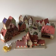 Kibri N - Brick nogging town with accessories