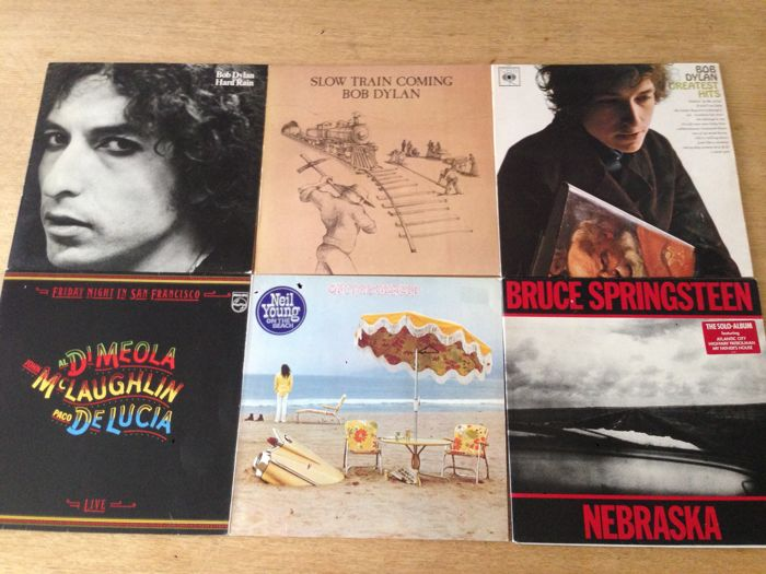 Great lot of 6 Lp's Neil Young Bob Dylan Bruce