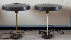 Louis Kalff for Philips - 2x Brass table Lamps