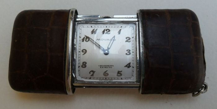 MOVADO Ermeto Chronometer. Unisex watch, pocket or handbag. 1940/1950s