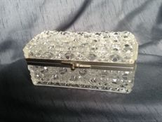 Baccarat crystal box, France. Date: around 1920