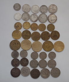USSR/Russia - Set of 40 Different Coins (Including 10 silver), no repeats