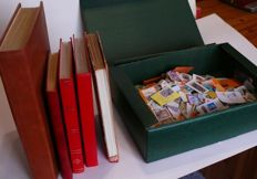 World - batch in various albums and thousands of postal stamps