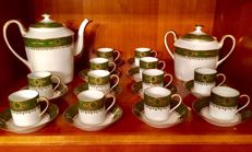 Limoges porcelain - Full coffee service