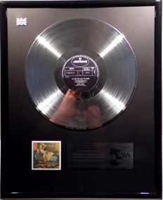"David Bowie  -  The Man who sold the World - 12"" UK Mercury platinum plated record by WWA Awards"