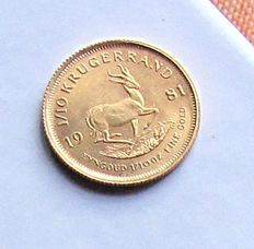 South Africa – 1/10 Krugerrand 1981 – 1/10 oz gold