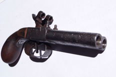 Percussion pistol double barrel Chest or punch Middle of the 18th century