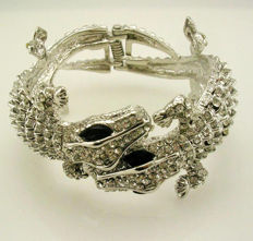 Kenneth J Lane double head alligator clamper bracelet