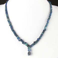 Necklace with Roman blue glass beads - 46 cm