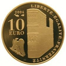 Frankrijk – 10 Euro 2004, Napoleon and Coronation scene, gold
