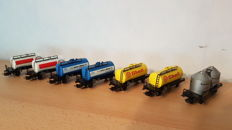 Marklin/Primex H0 - 4502/4441/4591/4911 -7 tankers of the DB