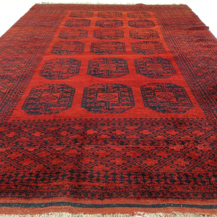 "Semi-antique Afghan - 291 x 204 cm - ""Beautiful old Afghan rug - 100% wool - in beautiful condition"""